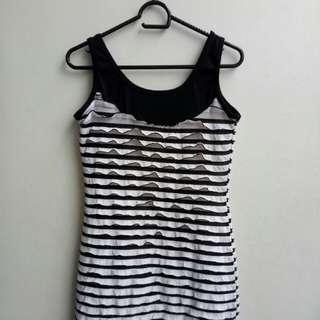Bodycon black and white Dress
