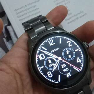 Fossil q marshal gen 2 smoke stainless smartwatch