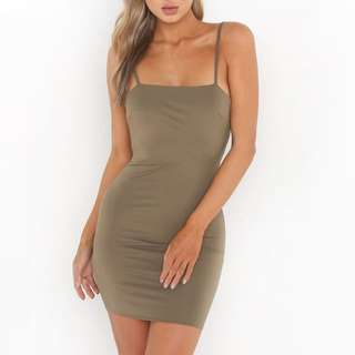 Tigermist khaki mini dress