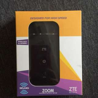 Zoom ZTE pocket wifi