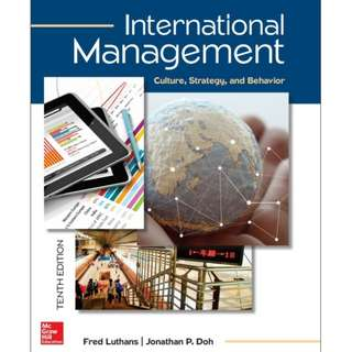 International Management: Culture, Strategy, and Behavior, 10th Edition eBook