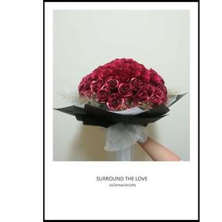 99 Everlasting Roses Bouquet