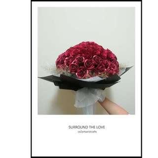 99 Everlasting Roses Bouquet