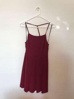 FOREVER 21 RED SUMMER DRESS