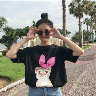 [PO] KOREAN CUTE CAT SHIRT