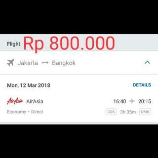 Tiket Murah Jakarta - Bangkok