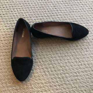 Jo Mercer black flats