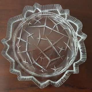 Vintage Heavy Glass ashtray coaster