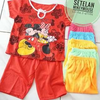 Setelan Baju Mickey