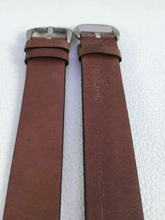 DIETRICH leather brown strap with silver buckle