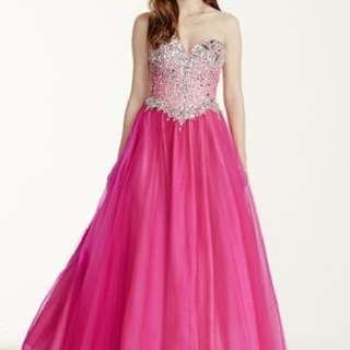 Fuschia Pink Evening Gown