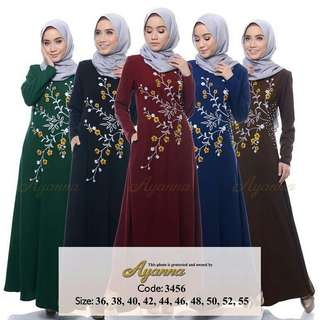 FLORQ EMBROIDERY JUBAH