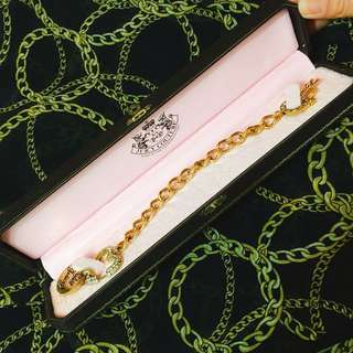 JUICY COUTURE gold bracelet金手鏈