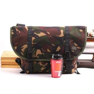 614e9850b20c Large Green Camo Forest Jungle HEAD PORTER Yoshida Messenger Sling Shoulder  Bag