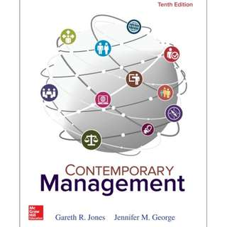 Contemporary Management, 10th Edition eBook