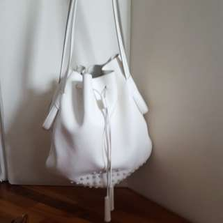 Tods white shoulder bag