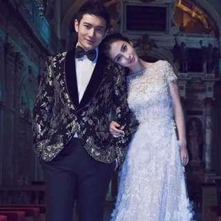 European style 3d firak wedding gown