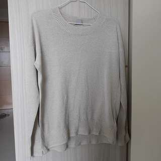 H&M Champagne Knit Sweater