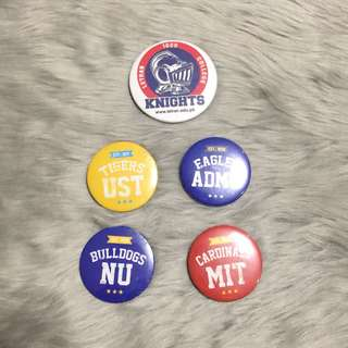 University Pins - Mapua, Letran, UST, ADMU, NU