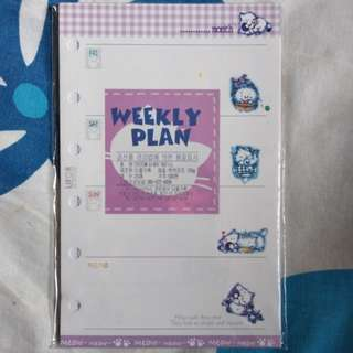 Schedule book 紙 Weekly plan 補充裝