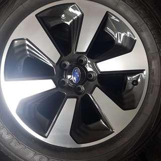 "Subaru original Enkei 17"" 225/60/17"