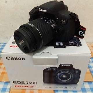 Jual cepat camera CANON 750D Lensa Kit 18-55