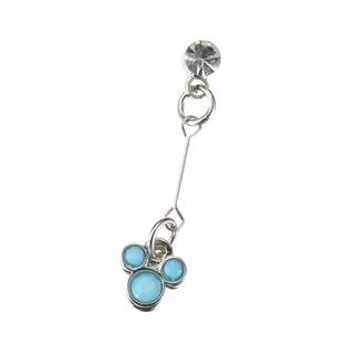 Japan Disneystore Disney Store Mickey Mouse Turquoise Petit Jewelry Pierce (for one ear)