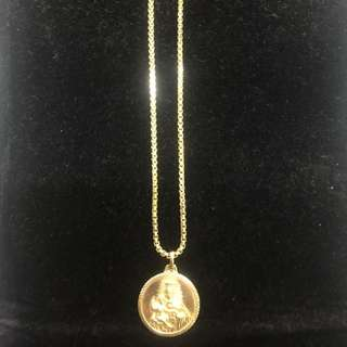14K Chain with Medallion Pendant 10.9g
