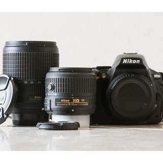 Nikon D5500 + 18-140mm lens + 18-55mm lens