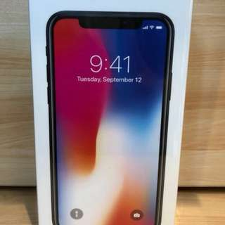 iPhone X 256gb (Space Grey) - Brand new sealed local set