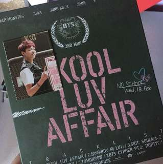 BTS Bangtan Boys Skool Luv Affair/ School love affair Album with Jungkook photocard. no group card