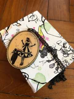Whimsical Alice in wonderland necklace