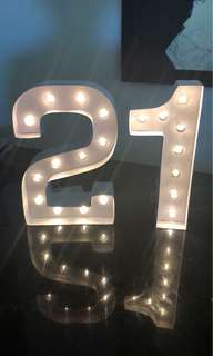 Light up numbers!