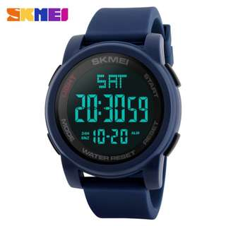 SKMEI 1257 BLUE SILICONE STRAP WATCH FOR MEN AND WOMEN - COD FREE SHIPPING
