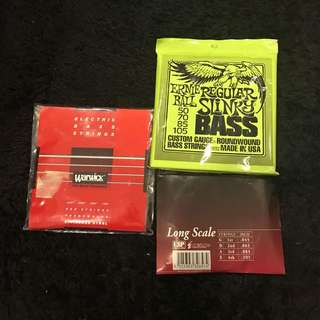Bass guitar strings new 3 packs