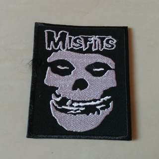Misfits - Fiend Skull Logo Woven Patch Band Merch