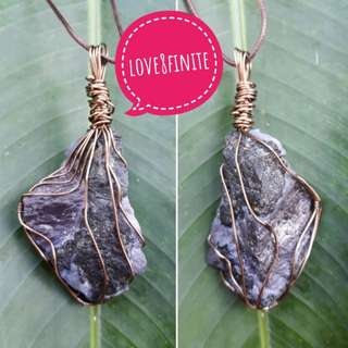 Crystal / stone pendant wire wrap service
