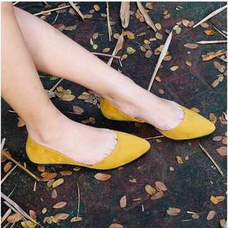 Suede Pointed Flat Shoes