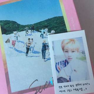 Seventeen Boys Be album Hide / Pink Version with Woozi photocard
