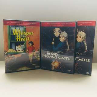 Studio Ghibli Howl's Moving Castle & Whisper Of The Heart DVDs - Price Drop! (was $30)
