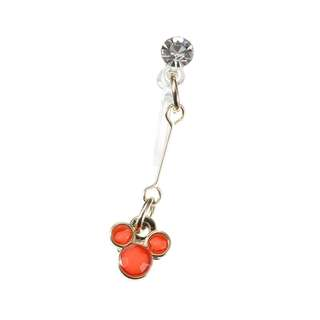 Japan Disneystore Disney Store Mickey Mouse Coral Petit Jewelry Earrings (for one ear)