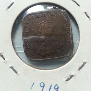 1919 GEORGE V king and emperor coin.