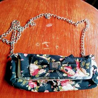 Floral Shoulder Bag/Clutch