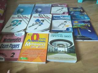O Level  Discovering math, additional maths... mathmatics Textbooks and practice books, assessment books secondary 1and,2 o'level