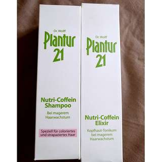 Plantur anti hairfall shampoo and elixir