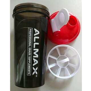 健身奶粉防漏杯 水樽 水壺 水杯 輕便 ALLMAX Fitness Shaker Bottle Water Bottle Mixer Shaker Cup 700ml