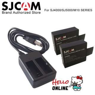 SJCAM 2PCS Batteries Battery + Dual Charger For SJ4000 SJ5000 SJ5000X Elite WIFI
