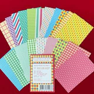 Polaroid sticker pastel colour set
