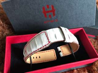 White Croco Strap with Red Stitching