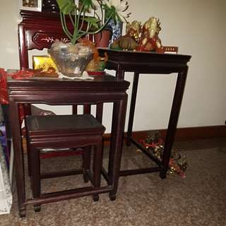 Roseword 3 tier side table
